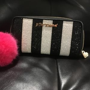 Luv Betsy by Betsey Johnson striped sparkle wallet